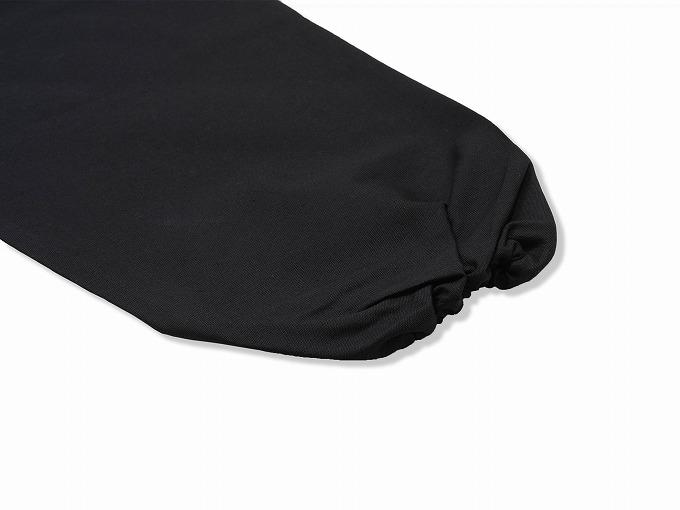 ななこ織作務衣 黒 上着袖部分