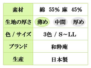 近江ちぢみ作務衣(S,M,L,LL)