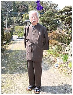 経てスラブ作務衣 (たてすらぶさむえ) 茶 【IKISUGATA】と同色羽織