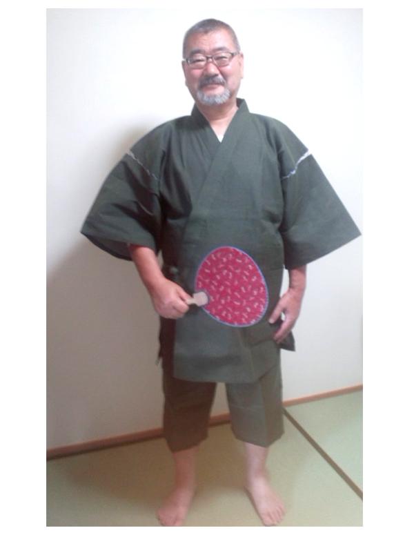 綿しじら織甚平 7062 3Ⅼ グリーン 初夏から真夏まで・・・粋で涼しく、着易いとは、文句のつけようがない日本の民族衣装ですな。