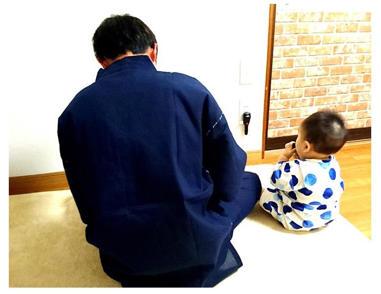 綿しじら甚平父の日ギフトプレゼント最高でした