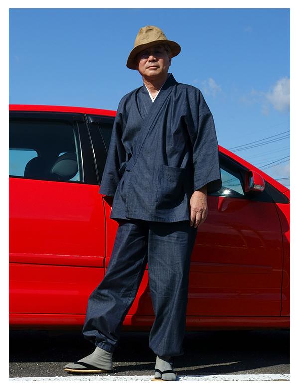 カイハラデニム・ピマ綿  濃紺 M 172㎝ 体重65㎏ 思ったより少しだけ薄い感じでしたね。九州はまだ、暖かいのでちょうど良い感じで着てますね。 思ったより、軽くてやさ