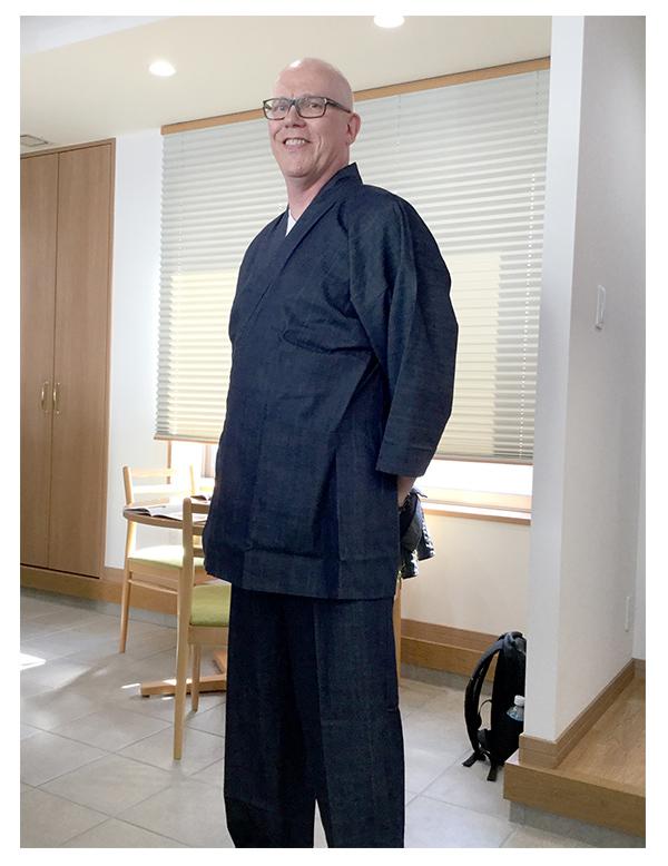 カイハラデニムピマ綿作務衣