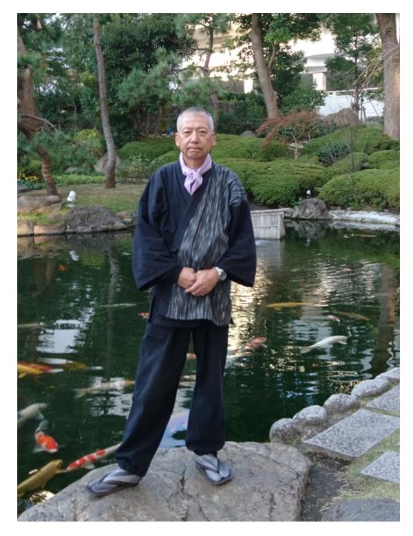 たて絣デザイン作務衣 黒 先日の東京でのロードスタークラブサンタプロジェクト参加した時です‼️いつもありがとうございます