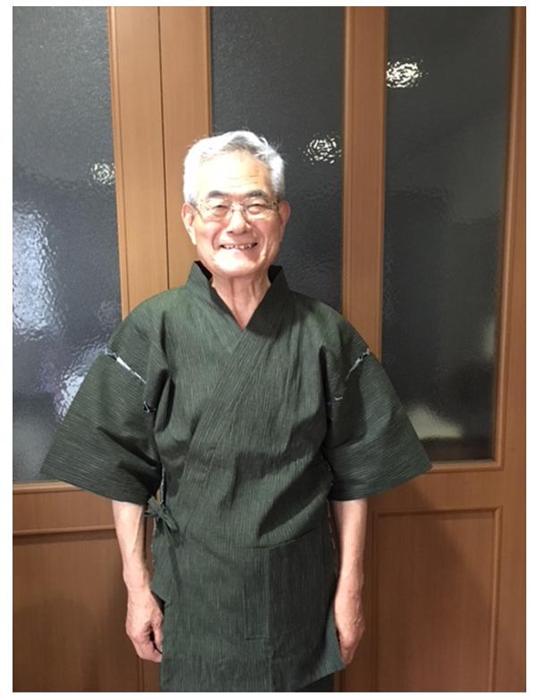 近江ちぢみ絣織甚平  父の日のプレゼントに利用させていただきました。涼しく着られると喜んでもらいました。有難うございました。