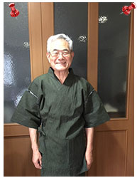 近江ちぢみ絣織甚平  グリーン  Lサイズ 父の日のプレゼントに利用させていただきました。涼しく着られると喜んでもらいました。有難うございました。