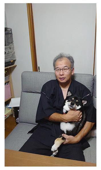 綿麻楊柳甚平 No.4 黒・L/身長:170㎝・体重:70㎏/娘が父の日と誕生日を兼ねて私にプレゼントしてくれました。初めて甚平を着てみましたが、ゆったりとしてとても涼しくて、普段着として休みの日に着ています。