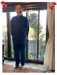 小柄ドビー刺子作務衣 No.15 濃紺・L/身長:170cm・体重:75Kg/気に入って毎日来ています。