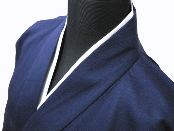作務衣用Tシャツ半襦袢 NO.2 白 紺作務衣×白衿半襦袢