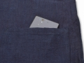 麻綿藍染作務衣 上着ポケット