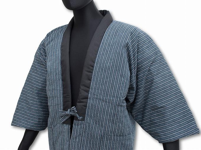 【綿入れはんてん】 木綿綿入れ袢纏 男性用 日本製 紺