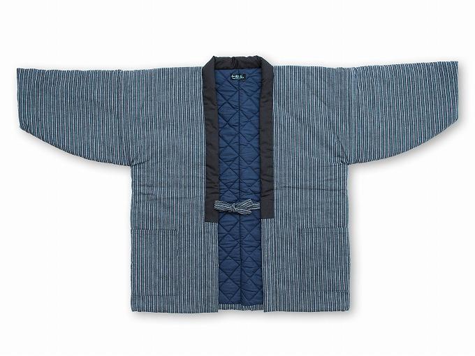 【綿入れはんてん】 木綿綿入れ袢纏 男性用 日本製 マネキン