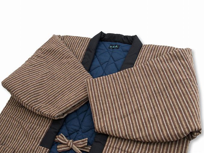 【綿入れはんてん】 木綿綿入れ袢纏 男性用 日本製 横