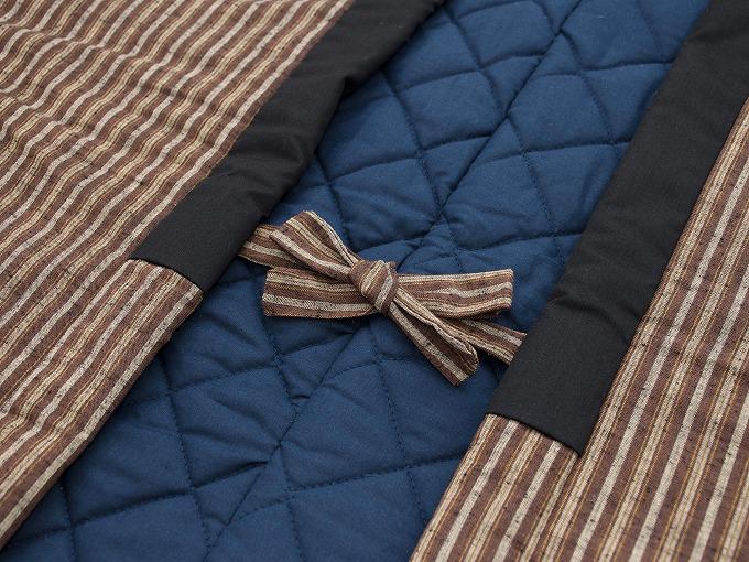 【綿入れはんてん】 木綿綿入れ袢纏 男性用 日本製 裏地